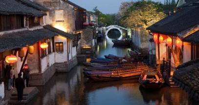 Famous-water-village-Zhouzhuang-in-Jiangsu-,China
