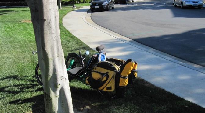 Carrying stuff on a recumbent trike | The Recumbent Gourmet