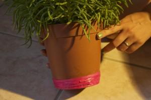 5 pot de fleur décoré