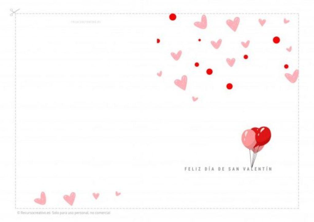 tarjeta imprimible san valentin gratis