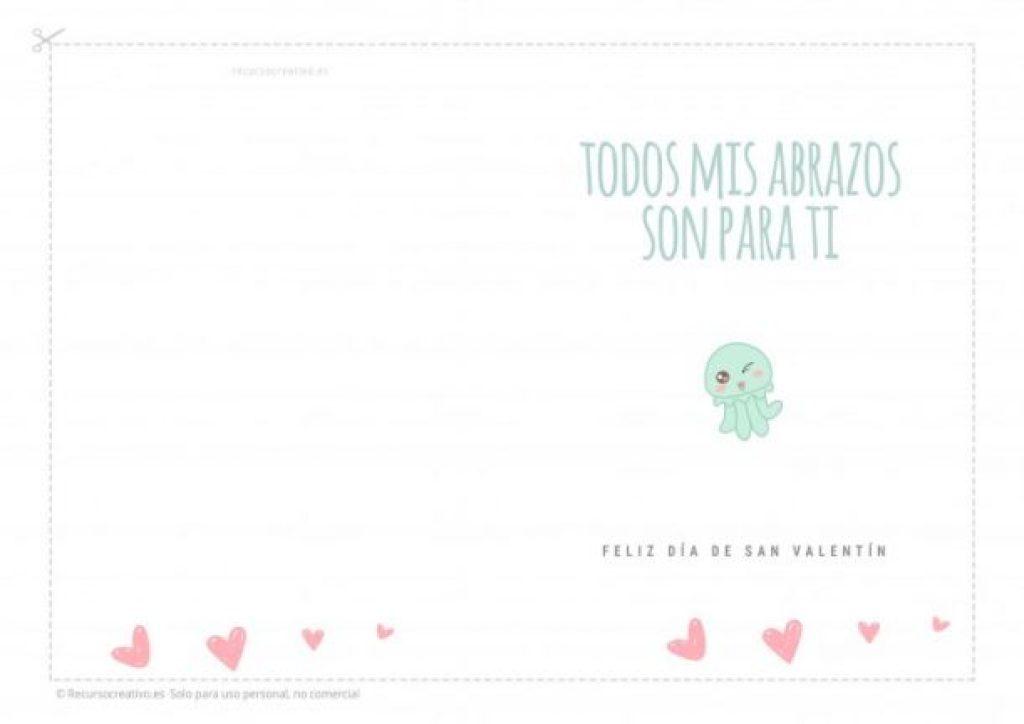 tarjeta imprimible dia de los enamorados