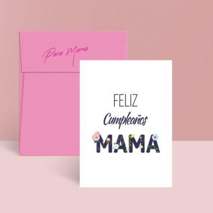 feliz cumple mama tarjeta gratis