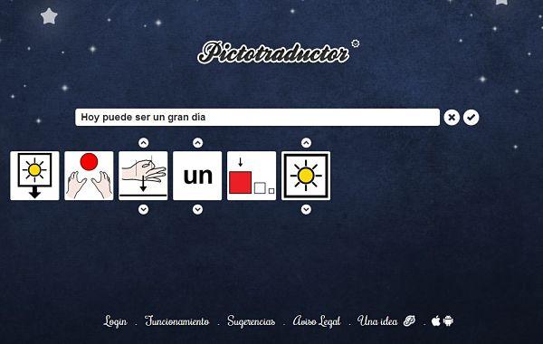 Pictotraductor, para convertir frases en pictogramas personalizables