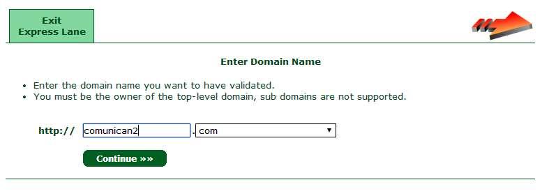 Certificado SSL. Nombre web