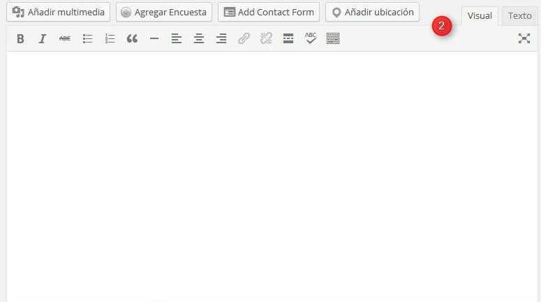 Wordpress. Editor de textos