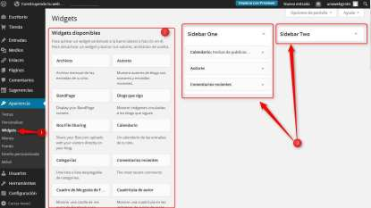 Wordpress - widgets