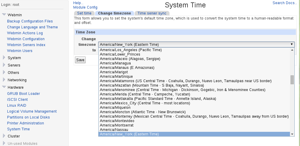 webmin_change_timezone