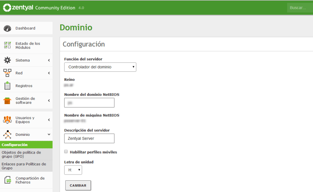 zentyal-configuracion dominio