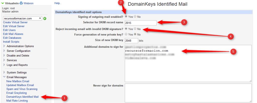 virtualmin-formulario domainkeys