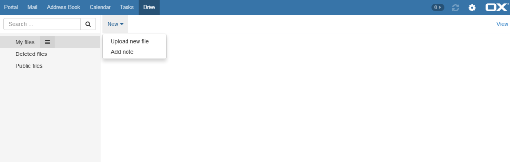 openxchange-compartir fichero