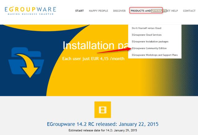 empezando en egroupware