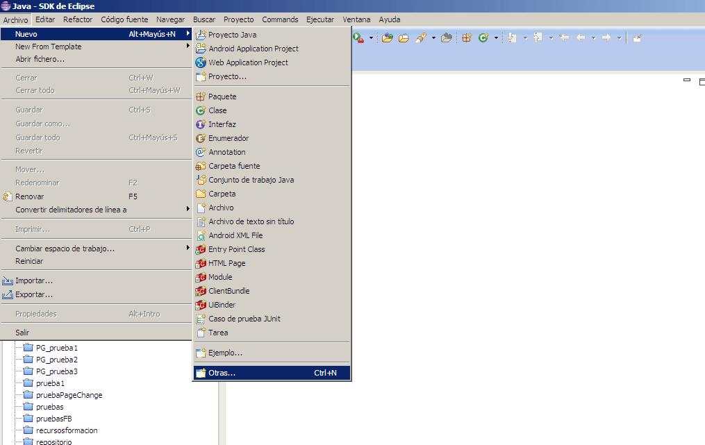 Eclipse-creando proyecto