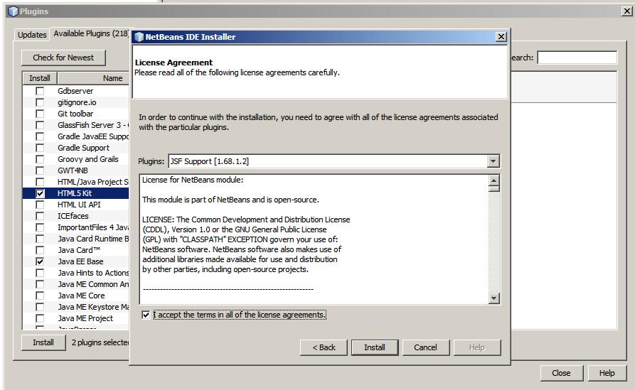 netbeans-instalacion plugins