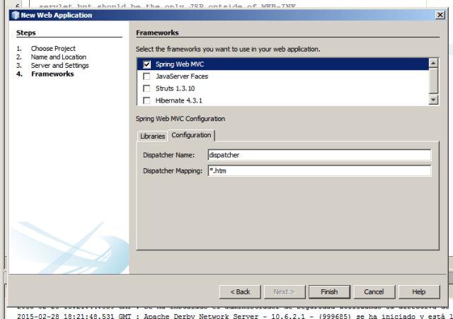 Netbeans. Proyecto con Spring. Configuracion