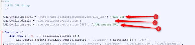 Configurar la demo de APE