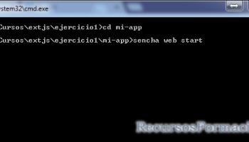 Sencha. Arrancando el servidor web