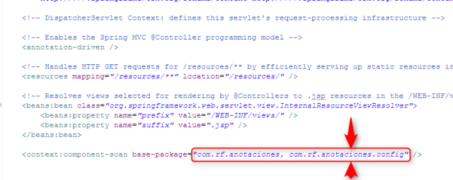 Servlet. Component-scan. Spring con anotaciones