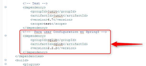 Spring 3. Añadir dependencia de CGLIB