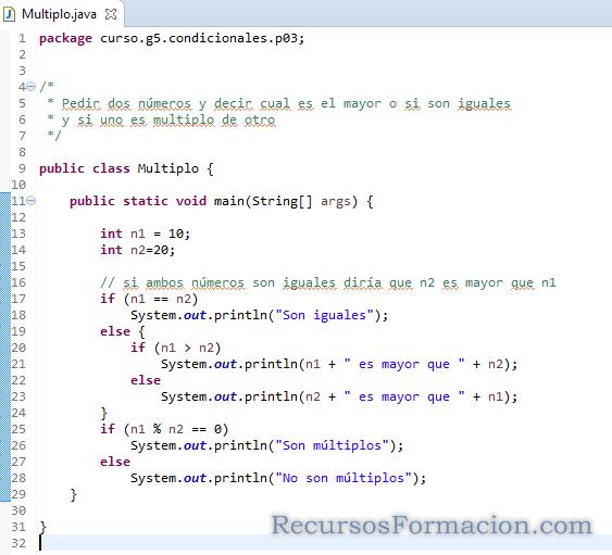 Java. Comprobar siun numero es multiplo de otro