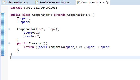 Genericos en Java. Extends