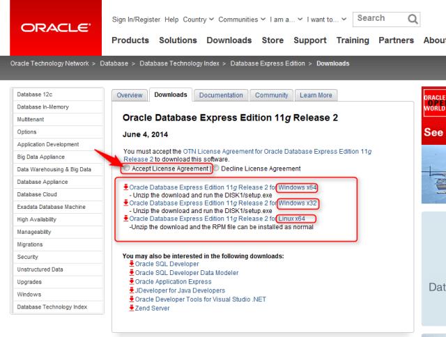 OracleDatabaseExpressEdition. Descargar