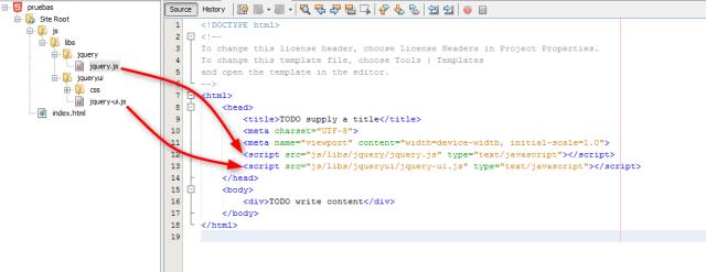 Creando referencias al las librerias javascript