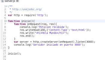 Un servidor muy basico con node.js