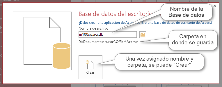 Access - Crear base de datos