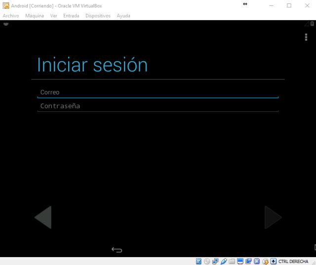 Inicio de sesion en Google