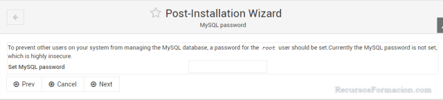 Post installation wizard-Virtualmin-Asegurando MySQL