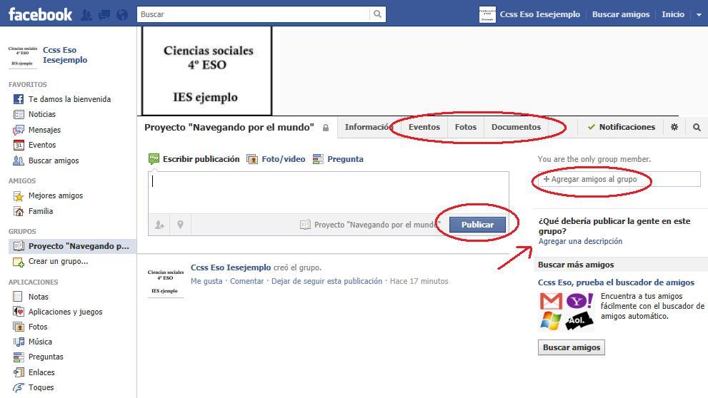 Personalización de Grupo en Facebook