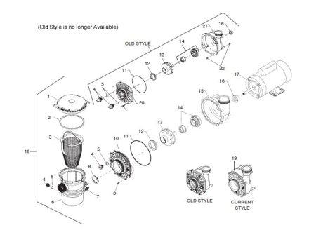 Waterway BaquaPure/HiFlo Pump Parts