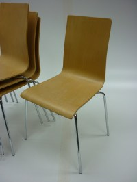 Plywood stacking chairs | Cafe seating | second hand