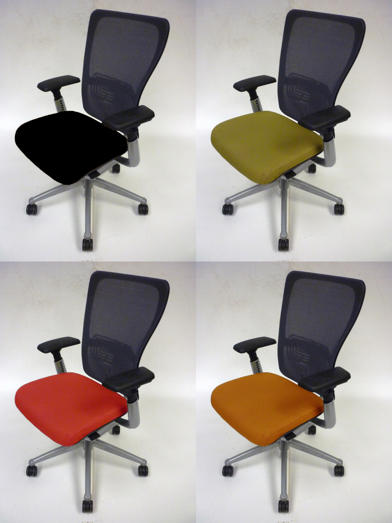 lime green bistro chairs fabric computer chair haworth comforto zody recovered office