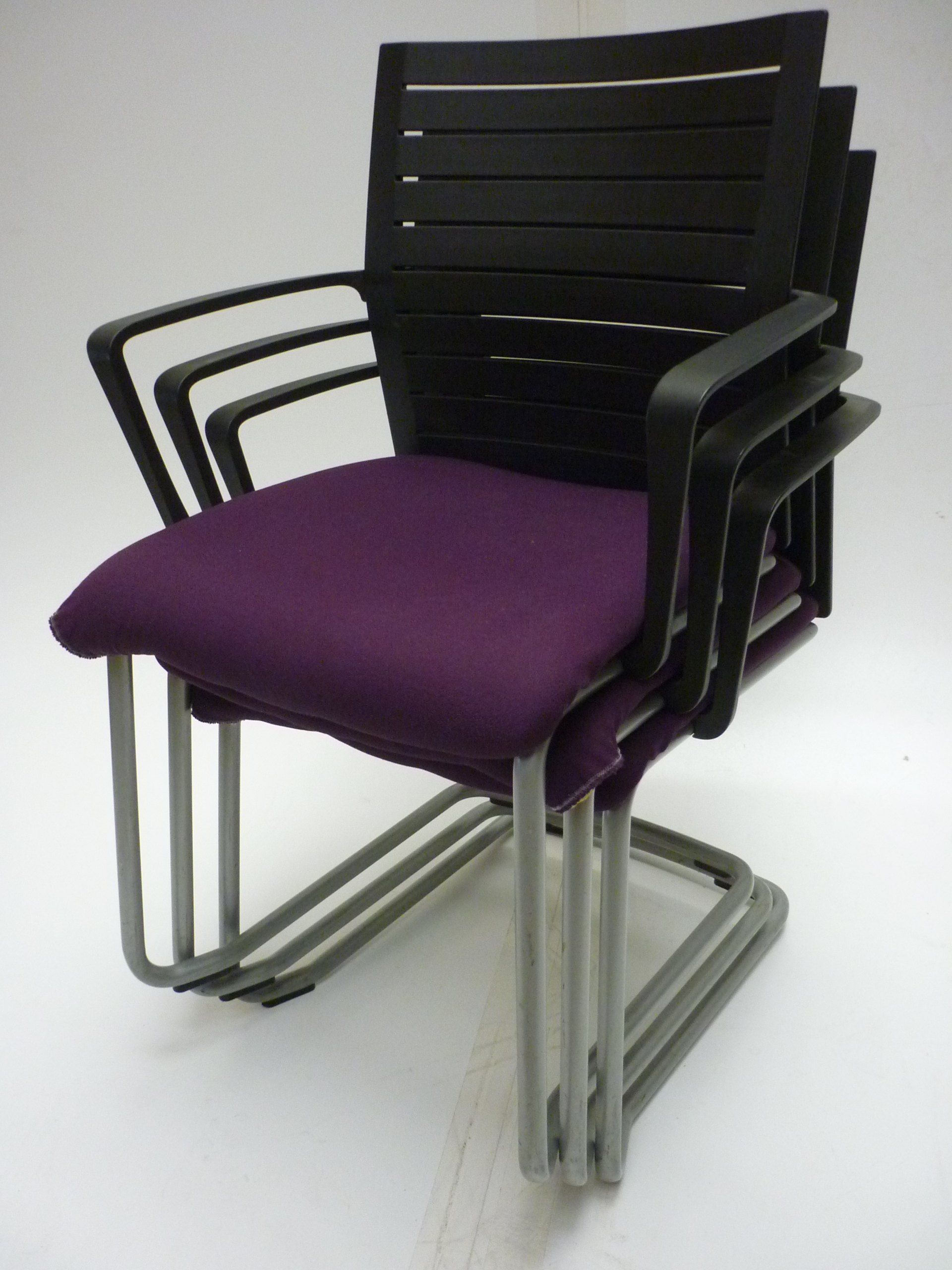 Steelcase Northside purpleblack stacking chair UK Delivery