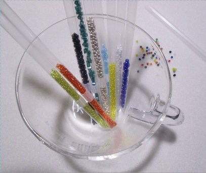 how to make seed bead straw storage