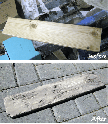 how to turn an old piece of wood into faux driftwood
