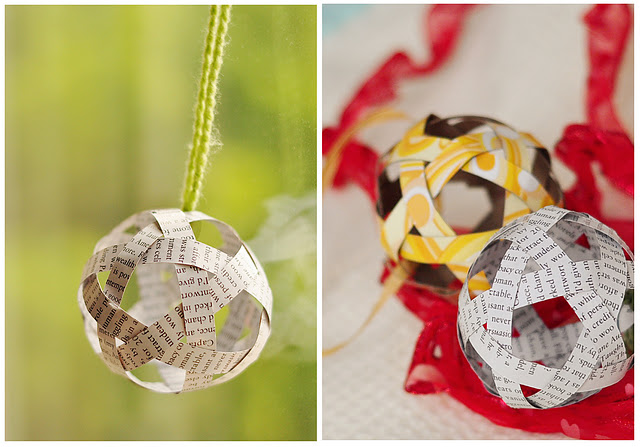 How to make a recycled paper strip ball ornament for How to make recycled paper crafts