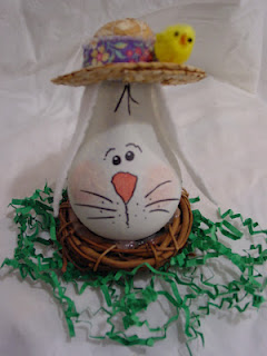 How To Make A Recycled Light Bulb Easter Bunny Recycled