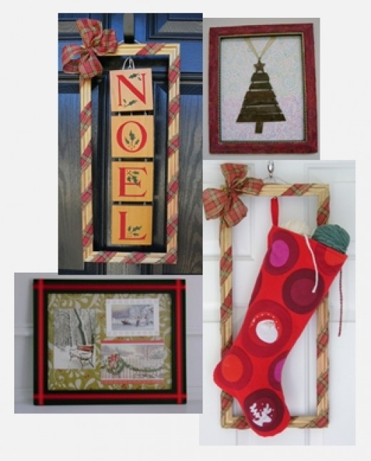 How To Use Frames To Decorate For Christmas Recycled Crafts