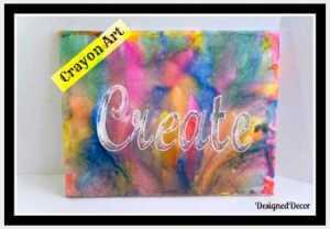 create crayon art