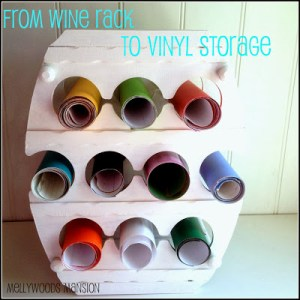 Wine rack to vinyl storage