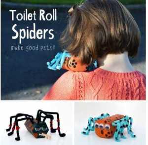 toilet-roll-Halloween-spiders