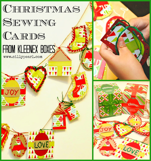 Kids-Christmas-Craft-Sewing-Cards-from-Kleenex-Boxes-by-The-Silly-Pearl