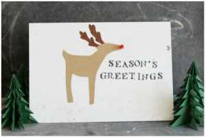LED light up Rudolf card