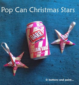 Pop Can Christmas Stars