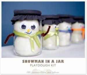 snowman playdough kit
