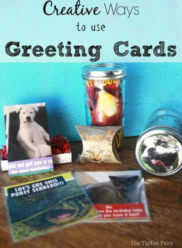 5 craft ideas to make with recycled greeting cards