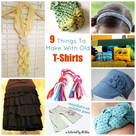 9 Things To Make With Old T Shirts Recycled Crafts