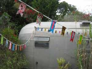 Duck tape pennant banners airstream